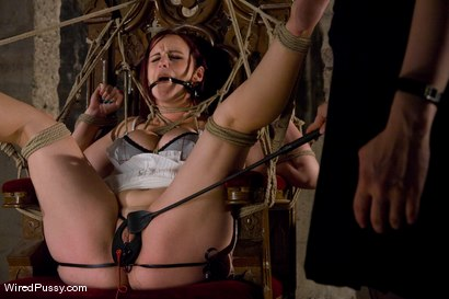 Photo number 1 from Bella Rossi's huge natural tits get tied and wired!!! shot for Wired Pussy on Kink.com. Featuring Claire Adams and Bella Rossi in hardcore BDSM & Fetish porn.