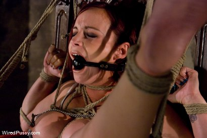 Photo number 13 from Bella Rossi's huge natural tits get tied and wired!!! shot for Wired Pussy on Kink.com. Featuring Claire Adams and Bella Rossi in hardcore BDSM & Fetish porn.