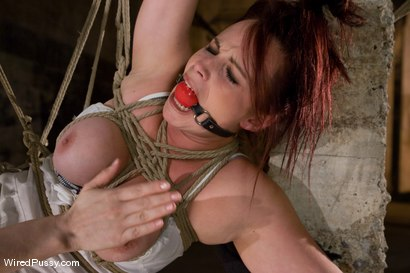 Photo number 9 from Bella Rossi's huge natural tits get tied and wired!!! shot for Wired Pussy on Kink.com. Featuring Claire Adams and Bella Rossi in hardcore BDSM & Fetish porn.