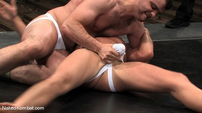 Photo number 4 from Cole Ryan vs Braxton Bond shot for Naked Kombat on Kink.com. Featuring Braxton Bond and Cole Ryan in hardcore BDSM & Fetish porn.