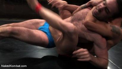 Photo number 2 from Brenn Wyson vs Brandon Monroe shot for Naked Kombat on Kink.com. Featuring Brandon Monroe and Brenn Wyson in hardcore BDSM & Fetish porn.
