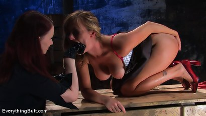 Photo number 6 from Dual Pleasures.... Adrianna Nicole & Claire Adams shot for Everything Butt on Kink.com. Featuring Claire Adams and Adrianna Nicole in hardcore BDSM & Fetish porn.