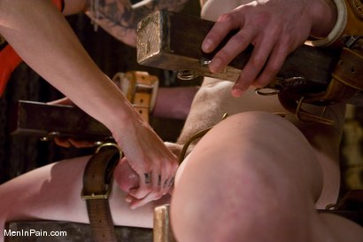 Photo number 3 from Demanding Mistress Kross puts Kade in The Chair shot for Men In Pain on Kink.com. Featuring Simone Kross and Kade in hardcore BDSM & Fetish porn.