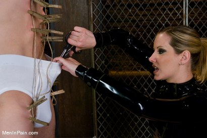 Photo number 2 from Dominating Nerd Boy shot for Men In Pain on Kink.com. Featuring Maitresse Madeline Marlowe  and Curt Wooster in hardcore BDSM & Fetish porn.