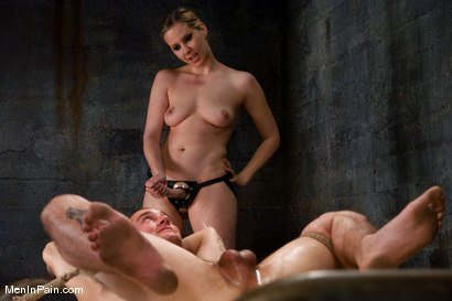 Photo number 12 from Dominating Nerd Boy shot for Men In Pain on Kink.com. Featuring Maitresse Madeline Marlowe  and Curt Wooster in hardcore BDSM & Fetish porn.