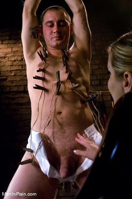 Photo number 3 from Dominating Nerd Boy shot for Men In Pain on Kink.com. Featuring Maitresse Madeline Marlowe  and Curt Wooster in hardcore BDSM & Fetish porn.