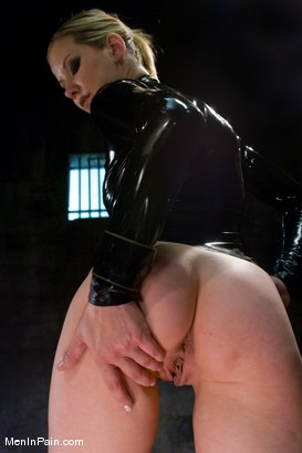 Photo number 6 from Dominating Nerd Boy shot for Men In Pain on Kink.com. Featuring Maitresse Madeline Marlowe  and Curt Wooster in hardcore BDSM & Fetish porn.