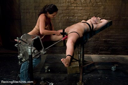 Photo number 1 from Surprise Attack - Hollie Stevens and guest Charley Chase shot for Fucking Machines on Kink.com. Featuring Hollie Stevens and Charley Chase in hardcore BDSM & Fetish porn.