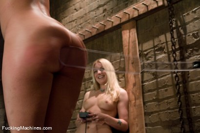 Photo number 6 from Surprise Attack - Hollie Stevens and guest Charley Chase shot for Fucking Machines on Kink.com. Featuring Hollie Stevens and Charley Chase in hardcore BDSM & Fetish porn.