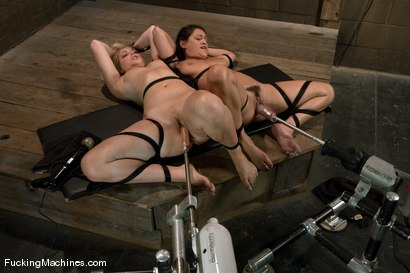 Photo number 7 from Surprise Attack - Hollie Stevens and guest Charley Chase shot for Fucking Machines on Kink.com. Featuring Hollie Stevens and Charley Chase in hardcore BDSM & Fetish porn.