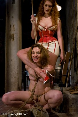 Photo number 8 from The Training of Sarah Shevon, Day One shot for The Training Of O on Kink.com. Featuring Sarah Shevon, Maestro and Sabrina Fox in hardcore BDSM & Fetish porn.