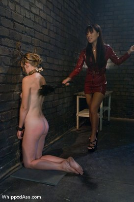 Photo number 4 from Asa Akira and Sunset Diamond shot for Whipped Ass on Kink.com. Featuring Asa Akira and Sunset Diamond in hardcore BDSM & Fetish porn.
