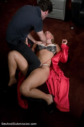 Photo number 5 from MILF Submission: episode 1 shot for Sex And Submission on Kink.com. Featuring James Deen and Mellanie Monroe in hardcore BDSM & Fetish porn.