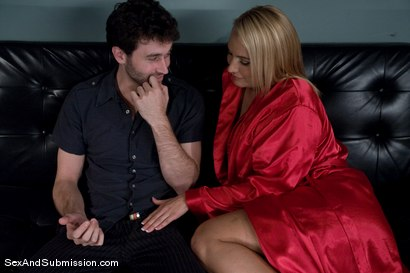 Photo number 3 from MILF Submission: episode 1 shot for Sex And Submission on Kink.com. Featuring James Deen and Mellanie Monroe in hardcore BDSM & Fetish porn.