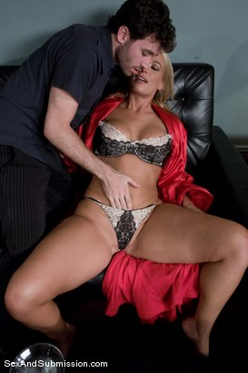Photo number 4 from MILF Submission: episode 1 shot for Sex And Submission on Kink.com. Featuring James Deen and Mellanie Monroe in hardcore BDSM & Fetish porn.