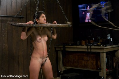 Photo number 8 from Leah<br>The Zipper shot for Device Bondage on Kink.com. Featuring Leah in hardcore BDSM & Fetish porn.
