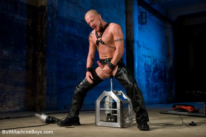 Photo number 6 from The Leather Biker shot for Butt Machine Boys on Kink.com. Featuring Luke Riley in hardcore BDSM & Fetish porn.