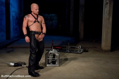Photo number 1 from The Leather Biker shot for Butt Machine Boys on Kink.com. Featuring Luke Riley in hardcore BDSM & Fetish porn.