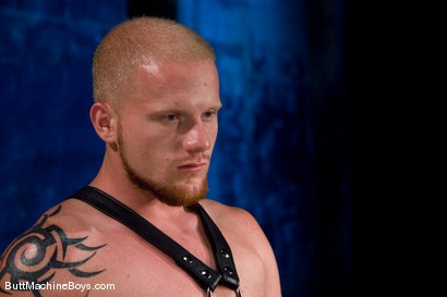 Photo number 2 from The Leather Biker shot for buttmachineboys on Kink.com. Featuring Luke Riley in hardcore BDSM & Fetish porn.