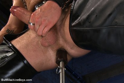 Photo number 5 from The Leather Biker shot for Butt Machine Boys on Kink.com. Featuring Luke Riley in hardcore BDSM & Fetish porn.