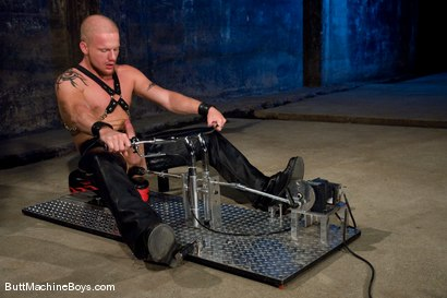 Photo number 10 from The Leather Biker shot for Butt Machine Boys on Kink.com. Featuring Luke Riley in hardcore BDSM & Fetish porn.