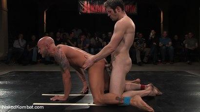 Photo number 13 from Dean Tucker vs Drake Jaden<br />The Live Audience Match  shot for Naked Kombat on Kink.com. Featuring Dean Tucker and Drake Jaden in hardcore BDSM & Fetish porn.