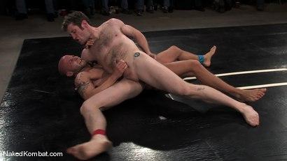 Photo number 7 from Dean Tucker vs Drake Jaden<br />The Live Audience Match  shot for Naked Kombat on Kink.com. Featuring Dean Tucker and Drake Jaden in hardcore BDSM & Fetish porn.
