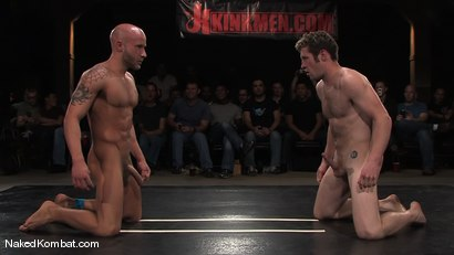 Photo number 15 from Dean Tucker vs Drake Jaden<br />The Live Audience Match  shot for Naked Kombat on Kink.com. Featuring Dean Tucker and Drake Jaden in hardcore BDSM & Fetish porn.