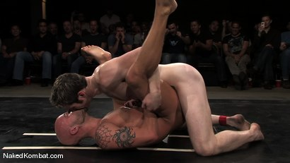 Photo number 10 from Dean Tucker vs Drake Jaden<br />The Live Audience Match  shot for Naked Kombat on Kink.com. Featuring Dean Tucker and Drake Jaden in hardcore BDSM & Fetish porn.