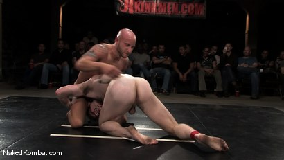 Photo number 6 from Dean Tucker vs Drake Jaden<br />The Live Audience Match  shot for Naked Kombat on Kink.com. Featuring Dean Tucker and Drake Jaden in hardcore BDSM & Fetish porn.