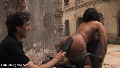 Photo number 11 from BACK TO THE STREETS shot for Public Disgrace on Kink.com. Featuring Steve Holmes and Dunia Montenegro in hardcore BDSM & Fetish porn.