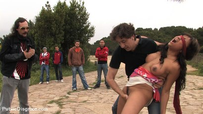 Photo number 10 from BACK TO THE STREETS shot for Public Disgrace on Kink.com. Featuring Steve Holmes and Dunia Montenegro in hardcore BDSM & Fetish porn.