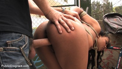 Photo number 7 from BACK TO THE STREETS shot for Public Disgrace on Kink.com. Featuring Steve Holmes and Dunia Montenegro in hardcore BDSM & Fetish porn.