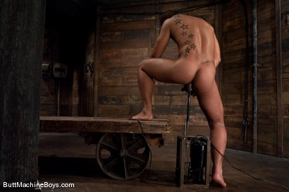 Photo number 9 from Warehouse Lunch Break shot for Butt Machine Boys on Kink.com. Featuring Trey Turner in hardcore BDSM & Fetish porn.