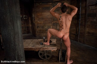 Photo number 7 from Warehouse Lunch Break shot for Butt Machine Boys on Kink.com. Featuring Trey Turner in hardcore BDSM & Fetish porn.