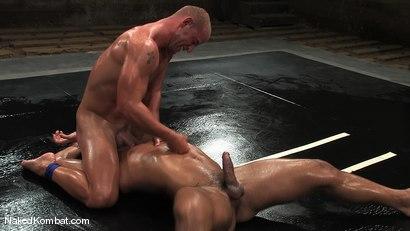 Photo number 9 from Patrick Rouge vs Trey Turner<br />The Oil Match shot for Naked Kombat on Kink.com. Featuring Patrick Rouge and Trey Turner in hardcore BDSM & Fetish porn.