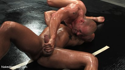 Photo number 10 from Patrick Rouge vs Trey Turner<br />The Oil Match shot for Naked Kombat on Kink.com. Featuring Patrick Rouge and Trey Turner in hardcore BDSM & Fetish porn.