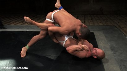 Photo number 3 from Patrick Rouge vs Trey Turner<br />The Oil Match shot for Naked Kombat on Kink.com. Featuring Patrick Rouge and Trey Turner in hardcore BDSM & Fetish porn.