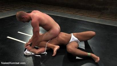 Photo number 4 from Patrick Rouge vs Trey Turner<br />The Oil Match shot for Naked Kombat on Kink.com. Featuring Patrick Rouge and Trey Turner in hardcore BDSM & Fetish porn.