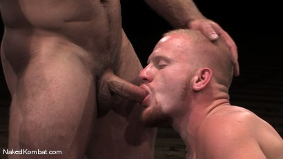 Photo number 12 from Luke Riley vs Samuel Colt shot for Naked Kombat on Kink.com. Featuring Luke Riley and Samuel Colt in hardcore BDSM & Fetish porn.