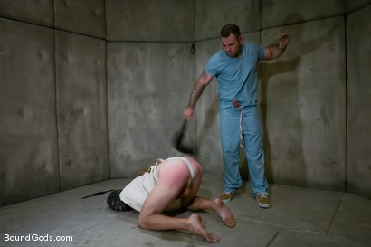 Photo number 1 from The Masochist and His Toy shot for Bound Gods on Kink.com. Featuring Dak Ramsey and Nomad in hardcore BDSM & Fetish porn.