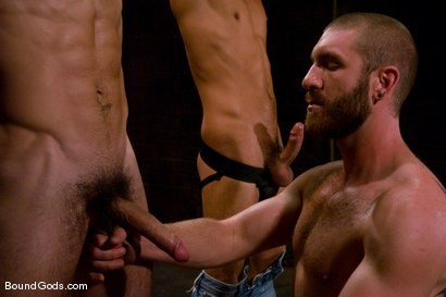 Photo number 10 from Mr Paine and His Boys shot for Bound Gods on Kink.com. Featuring Geoffrey Paine, Dominic Pacifico and DJ in hardcore BDSM & Fetish porn.