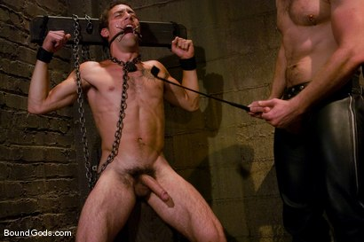 Photo number 4 from Mr Paine and His Boys shot for Bound Gods on Kink.com. Featuring Geoffrey Paine, Dominic Pacifico and DJ in hardcore BDSM & Fetish porn.