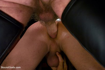 Photo number 14 from Mr Paine and His Boys shot for Bound Gods on Kink.com. Featuring Geoffrey Paine, Dominic Pacifico and DJ in hardcore BDSM & Fetish porn.