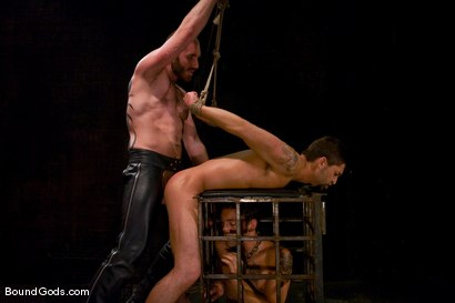 Photo number 13 from Mr Paine and His Boys shot for Bound Gods on Kink.com. Featuring Geoffrey Paine, Dominic Pacifico and DJ in hardcore BDSM & Fetish porn.