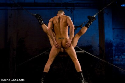 Photo number 12 from The Onyx and The Redz shot for Bound Gods on Kink.com. Featuring Spencer Reed and Derrek Diamond in hardcore BDSM & Fetish porn.