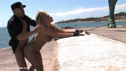 Photo number 9 from BEST OF EUROPE: Beautiful Spanish Model Yillie Fresh  shot for Public Disgrace on Kink.com. Featuring Yillie Fresh and Max Cortes in hardcore BDSM & Fetish porn.