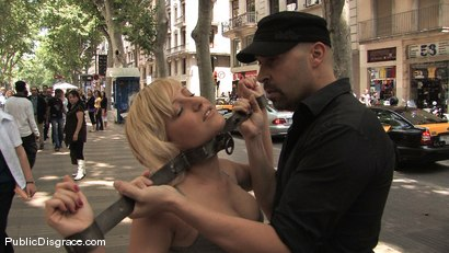 Photo number 6 from BEST OF EUROPE: Beautiful Spanish Model Yillie Fresh  shot for Public Disgrace on Kink.com. Featuring Yillie Fresh and Max Cortes in hardcore BDSM & Fetish porn.