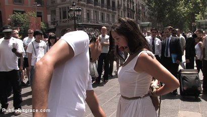 Photo number 7 from Fully Nude and Barefoot in Public shot for Public Disgrace on Kink.com. Featuring Oliver and Salma de Nora in hardcore BDSM & Fetish porn.
