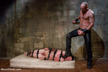 Photo number 3 from The Perv and His Sk8ter Boy shot for Bound Gods on Kink.com. Featuring CJ Madison and Aaron Adams in hardcore BDSM & Fetish porn.